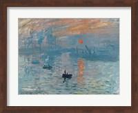 Impression: Sunrise, 1872 Fine Art Print