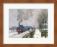 Train in the Snow or The Locomotive, 1875 Fine Art Print