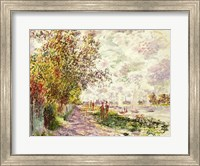 The Riverbank at Gennevilliers, c.1875 Fine Art Print