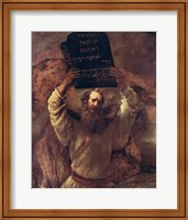 Moses Smashing the Tablets of the Law, 1659 Fine Art Print