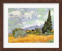 Wheatfield with Cypresses, 1889 Fine Art Print