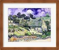 Thatched cottages at Cordeville Fine Art Print