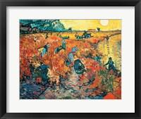 Red Vineyards at Arles, 1888 Fine Art Print