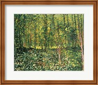 Trees and Undergrowth, 1887 Fine Art Print