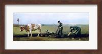 Labourer and Peasant Planting Potatoes, 1884 Fine Art Print