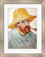Self Portrait, 1888 wearing a hat Fine Art Print