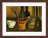 Still Life of Paintbrushes in a Flowerpot, 1884 Fine Art Print