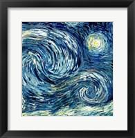 The Starry Night, June 1889 Detail B Fine Art Print
