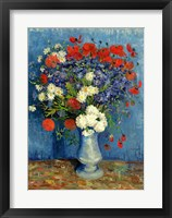 Still Life: Vase with Cornflowers and Poppies, 1887 Fine Art Print