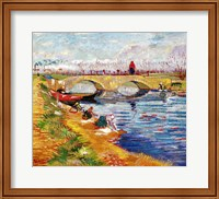 The Gleize Bridge over the Vigneyret Canal Fine Art Print
