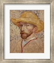 Self Portrait with Straw Hat, 1887 Fine Art Print