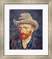 Self Portrait with Felt Hat Fine Art Print