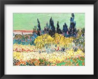 The Garden at Arles, detail of the cypress trees Fine Art Print