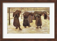 Miners' wives carrying sacks of coal, 1882 Fine Art Print