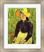 Portrait of Einer Jungen Bauerin Fine Art Print