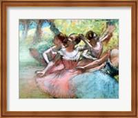 Four ballerinas on the stage Fine Art Print