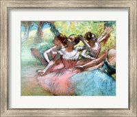 Four ballerinas on the stage Fine Art Print