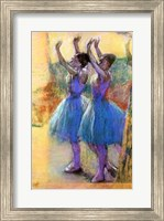 Two Blue Dancers Fine Art Print