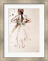 Dancer viewed from the back Fine Art Print
