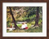 Two Seated Women Fine Art Print