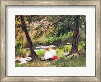Two Seated Women Fine Art Print