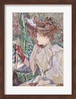 Woman with Gloves, 1891 Fine Art Print