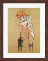 Woman Pulling Up her Stocking, 1894 Fine Art Print