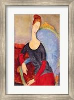 Mme Hebuterne in a Blue Chair, 1918 Fine Art Print