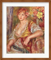 Blonde Woman with a Rose Fine Art Print