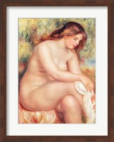 Bather Drying Herself Fine Art Print