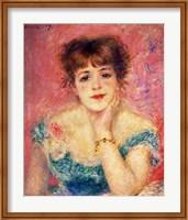 Portrait of the actress Jeanne Samary, 1877 Fine Art Print