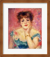 Portrait of the actress Jeanne Samary, 1877 Fine Art Print