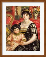 Madame Josse Bernheim-Jeune and her Son Henry, 1910 Fine Art Print