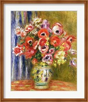 Vase of Tulips and Anemones, c.1895 Fine Art Print