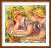 Two women in blue blouses, 1919 Fine Art Print