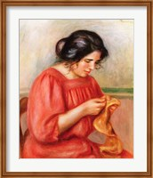 Gabrielle darning, 1908 Fine Art Print