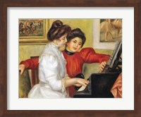 Yvonne and Christine Lerolle at the piano, 1897 Fine Art Print