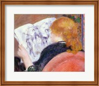 Young Woman Reading an Illustrated Journal, c.1880-81 Fine Art Print