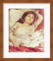 Semi-Nude Woman in Bed: The Rose, before 1872 Fine Art Print