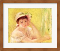 Woman in a Straw Hat, 1879 Fine Art Print