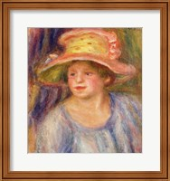 Woman with a hat Fine Art Print