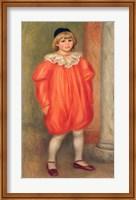 Claude Renoir in a clown costume, 1909 Fine Art Print