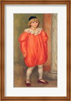 Claude Renoir in a clown costume, 1909 Fine Art Print