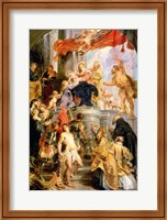 Enthroned Madonna with Child, Encircled by Saints Fine Art Print