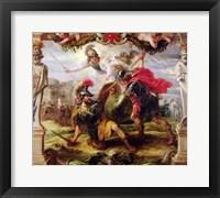 Achilles Defeating Hector Fine Art Print