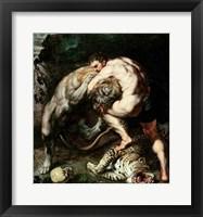 Hercules Fighting the Nemean Lion Fine Art Print