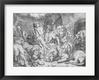 Daniel in the lions' den Fine Art Print