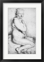 Young nude woman seated Fine Art Print