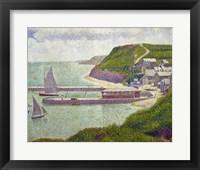 Harbour at Port-en-Bessin at High Tide, 1888 Fine Art Print