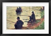 Anglers, Study for 'La Grande Jatte', 1883 Fine Art Print